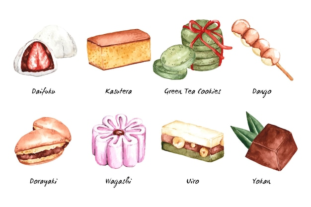 Pack de desserts de la gastronomie asiatique
