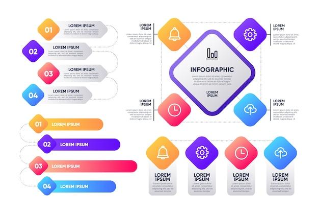 Pack de différents éléments infographiques
