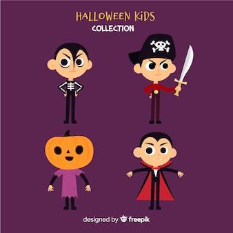 Pack de divers personnages de halloween pour enfants