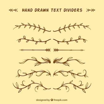 Pack de diviseurs dorés à la main