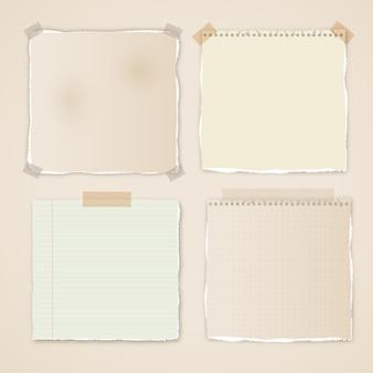 Pack d'effets de papier déchiré réaliste