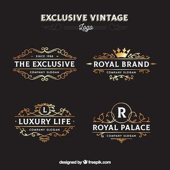 Pack élégant de modèles de logo vintage