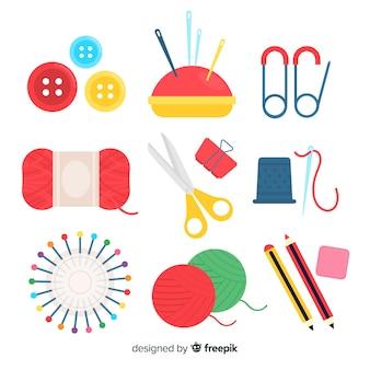 Pack d'éléments de couture plats