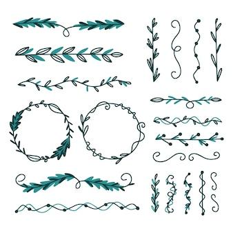 Pack d'éléments décoratifs dessinés à la main