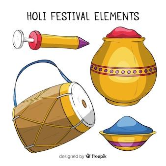 Pack d'éléments du festival de holi