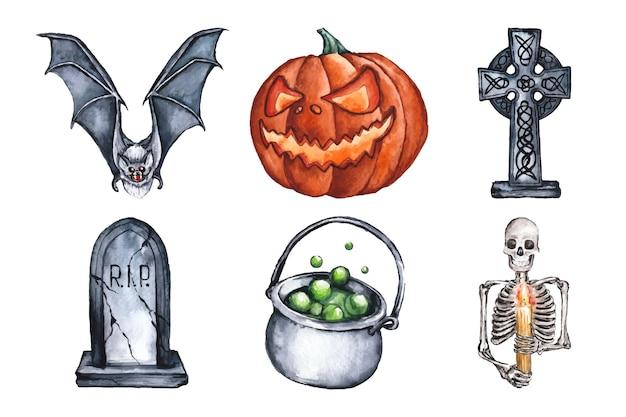 Pack d'éléments d'halloween