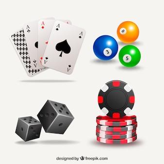 Pack d'éléments de jeu de casino