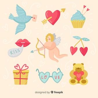 Pack d'éléments de la saint valentin