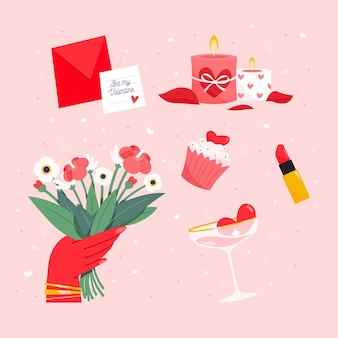 Pack d'éléments de la saint-valentin