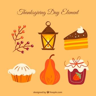 Pack d'éléments de thanksgiving