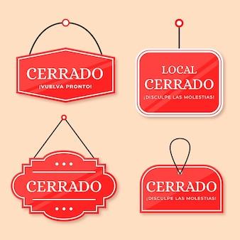 Pack d'enseignes cerrado design plat