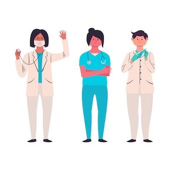 Pack équipe de professionnels de la santé