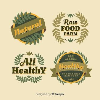 Pack d'étiquettes d'aliments bio