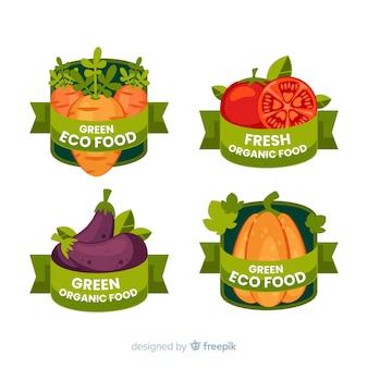 Pack d'étiquettes d'aliments biologiques