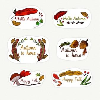 Pack d'étiquettes d'automne