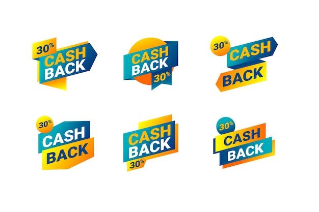 Pack d'étiquettes cashback