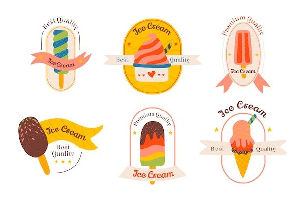 Pack d'étiquettes de crème glacée