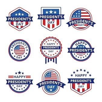 Pack d'étiquettes du jour du président