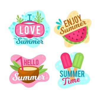 Pack d'étiquettes d'été