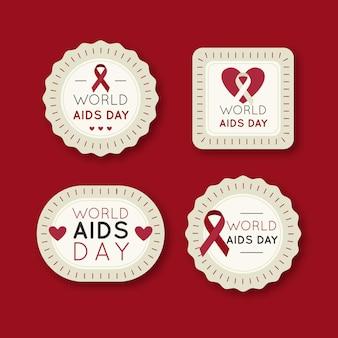 Pack d'étiquettes de la journée mondiale du sida
