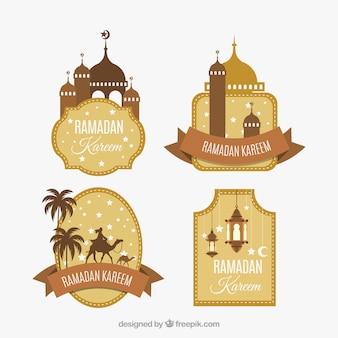 Pack d'étiquettes de ramadan