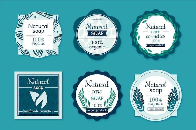 Pack d'étiquettes de savon