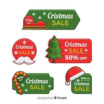 Pack d'étiquettes simples de vente de noël