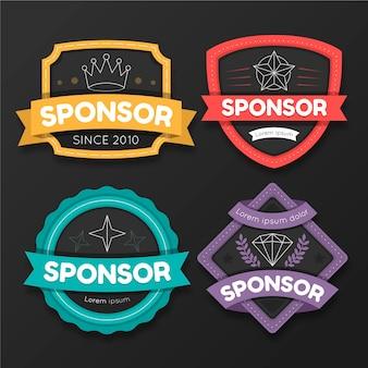 Pack d'étiquettes de sponsoring créatives