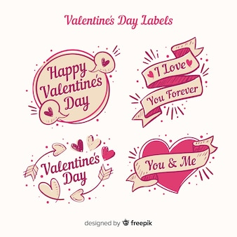 Pack d'étiquettes valentine