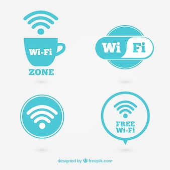 Pack des étiquettes de la zone wifi