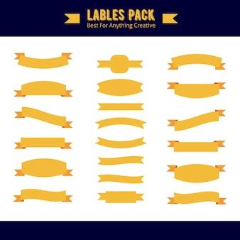 Pack d'étiquettes