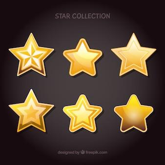 Pack étoile dorée brillante