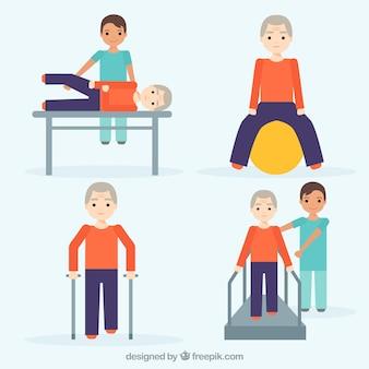 Pack d'exercices de réadaptation
