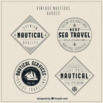 Pack fantastique de badges nautiques vintages