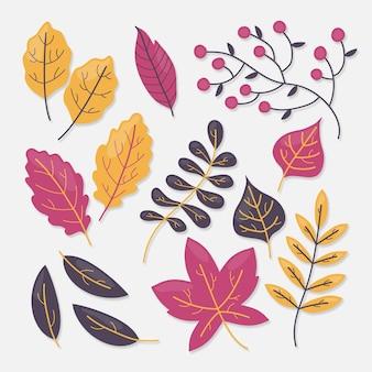Pack de feuilles d'automne