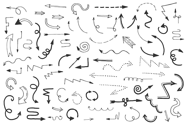 Pack de flèches design dessiné à la main