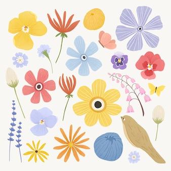 Pack de fleurs colorées
