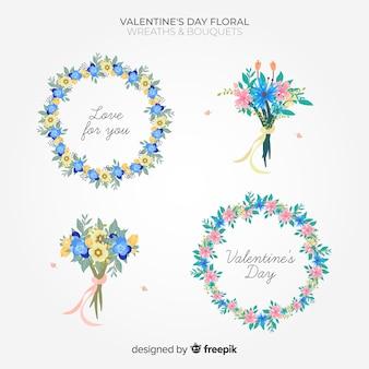 Pack de fleurs de valentine couleur pastel