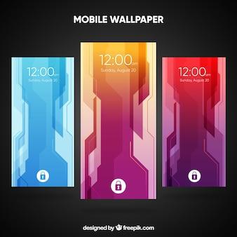 Pack de fonds d'écran mobiles avec des formes abstraites