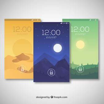 Pack de fonds d'écran de paysages magnifiques pour mobile