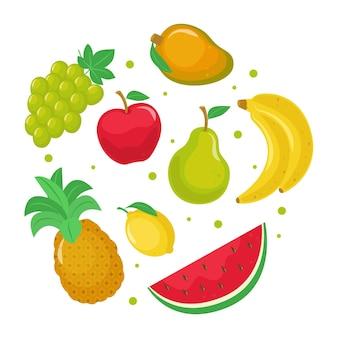 Pack de fruits délicieux plat bio