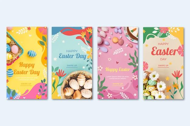Pack d'histoires instagram du jour de pâques