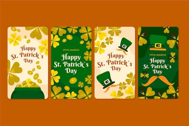 Pack d'histoires instagram de la saint-patrick