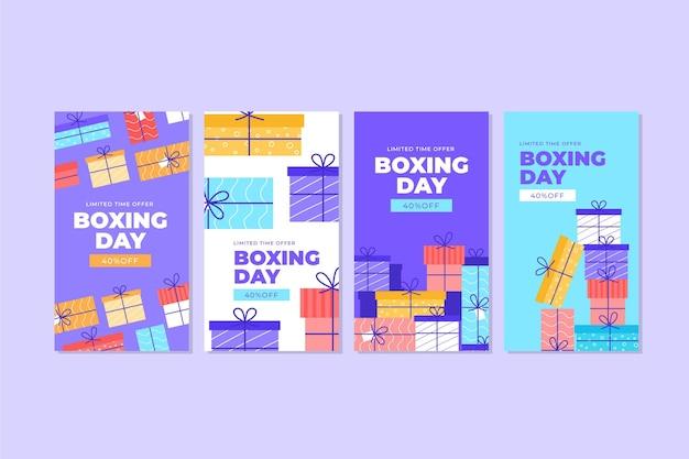 Pack d'histoires instagram de soldes de boxe