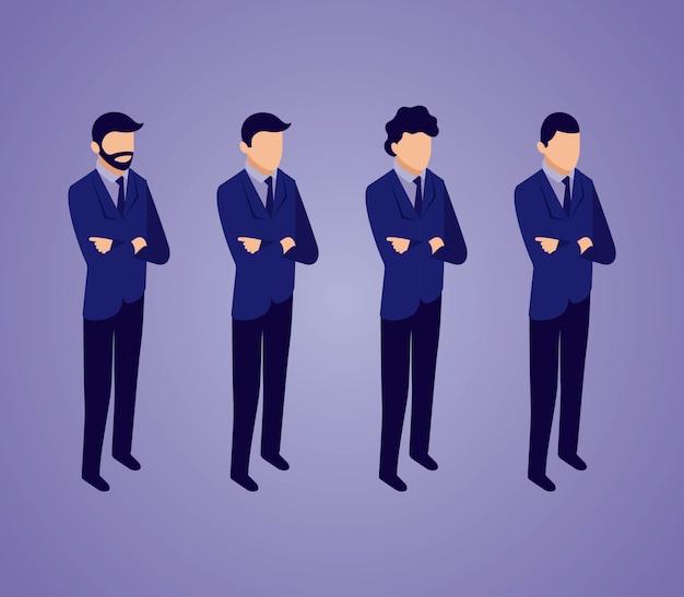 Pack d'hommes d'affaires du réseau de données