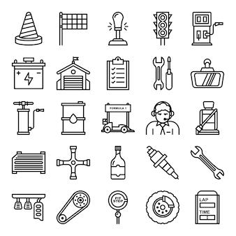 Pack d'icônes de course