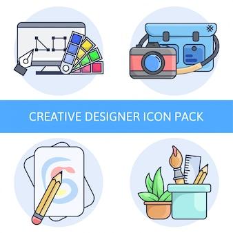 Pack d'icônes creative designer
