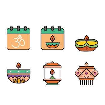 Pack d'icônes diwali