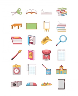Pack d'icônes école école