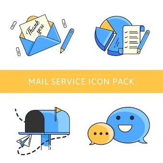 Pack d'icônes d'email marketing